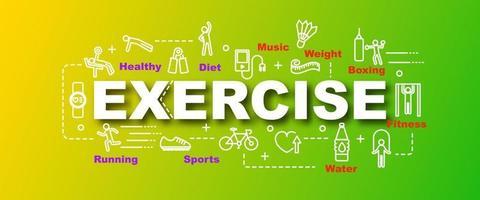 banner moderno de vetor de exercício
