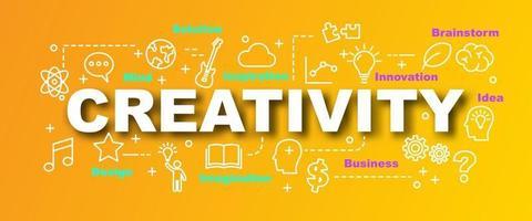banner moderno de vetor de criatividade
