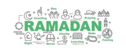 banner de vetor de ramadã