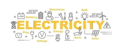 banner de vetor de eletricidade