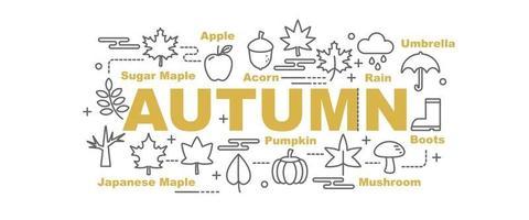 banner de vetor de outono