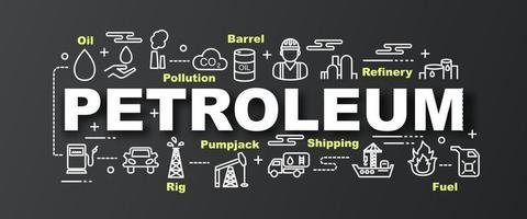 banner moderno de vetor de petróleo