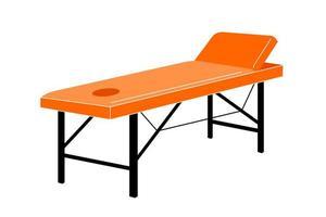 mesa de massagem - ilustração vetorial, isolada no fundo branco. sofá para massagem. móveis para salão de beleza vetor