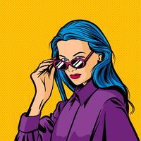 Mulher pop art vector