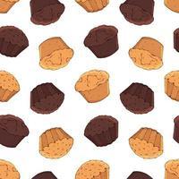 cupcake seamless pattern background vetor