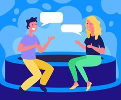 Ilustração de pessoas falando vetor