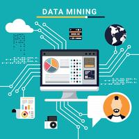 Ilustração de mineração de dados vetor