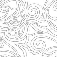 textura de vetor de cor preta isolada em espirais de fundo branco e formas abstratas.