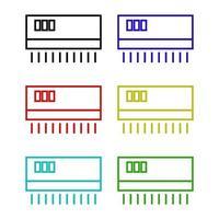 ícone de ar condicionado em fundo branco vetor