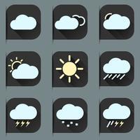 Conjunto de ícones plana do tempo vetor