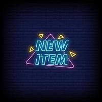 novo item vetor de texto de estilo de sinais de néon
