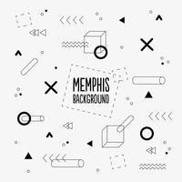 Fundo de Memphis com formas geométricas vetor