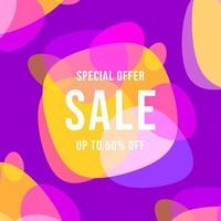 design de modelo de banner de venda de oferta especial. vetor
