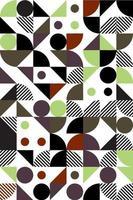estilo bauhaus sem costura padrão geométrico abstrato, fundo geométrico abstrato vetor