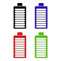 ícone de bateria em fundo branco vetor