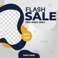 banner de design de modelo de postagem de promoção de venda de flash criativo. bom para vetor de promoção de negócios online