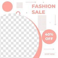banner de design de modelo de postagem de promoção de venda de moda criativa com estilo de cor rosa. bom para vetor de promoção de negócios online
