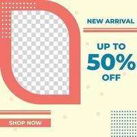 banner de design de modelo de postagem de mídia social de venda de moda criativa. bom para vetor de promoção de negócios online