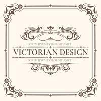 Modelo de design vitoriano vetor