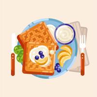 Ilustração em vetor de pequeno-almoço colorido