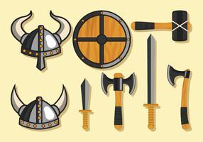 Conjunto de armas Viking vetor