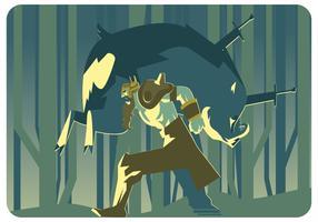 Vetor de caçador de viking
