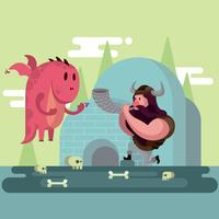 Ilustração Viking vetor