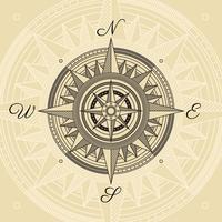 Ilustração Vintage Compass vetor
