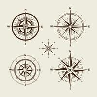 Coleção Compass Rose vetor
