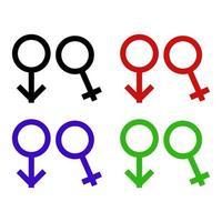 ícone de gênero no fundo