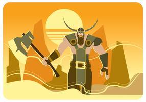 Vetor de Viking andando