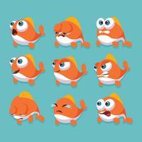 Peixe dos desenhos animados vetor