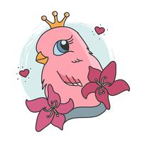 Vetor de tatuagem de pássaro
