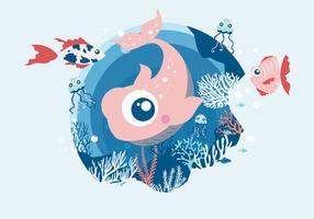 Vetor de Vol 2 de peixe dos desenhos animados