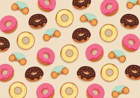 Donuts Padrão Vector Design