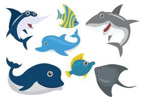 Caricatura, peixe, ilustração vetor