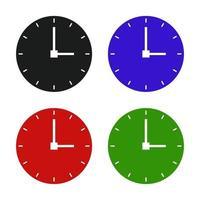 ícone de relógio no fundo vetor