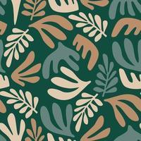 padrão sem emenda de arte contemporânea com plantas abstratas. design moderno vetor