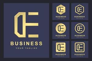 conjunto de logotipo minimalista de carta vetor
