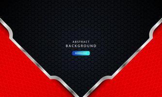 conceito de quadro corporativo moderno abstrato vermelho com efeito prata