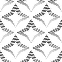 sem costura padrão vetorial de linhas pretas desiguais desenhadas por uma caneta em forma de estrelas ou losangos. vetor