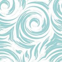 sem costura turquesa cor pastel redemoinho ou tornado vetor textura isolada no fundo branco.