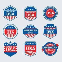 coleção de emblemas made in usa vetor