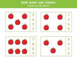 jogo de contagem para crianças vetor
