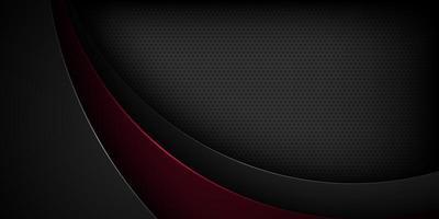 fundo preto vetor abstrato com características sobrepostas.
