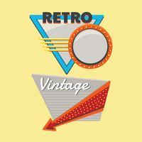 Banner vintage ou retrô, conjunto de modelo de sinal de outdoor vetor