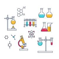Vetor de ícones de química