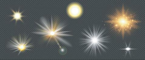 efeitos de luz transparente de reflexo de lente vetor