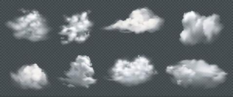 conjunto de nuvens realistas, vetor