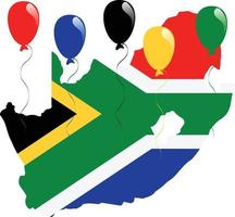 bandeira sul africana vetor
